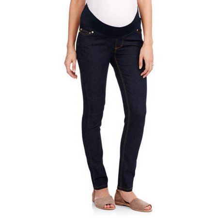 Oh! Mamma Demi-Panel Super Soft Skinny Maternity Jeans - Walmart.com