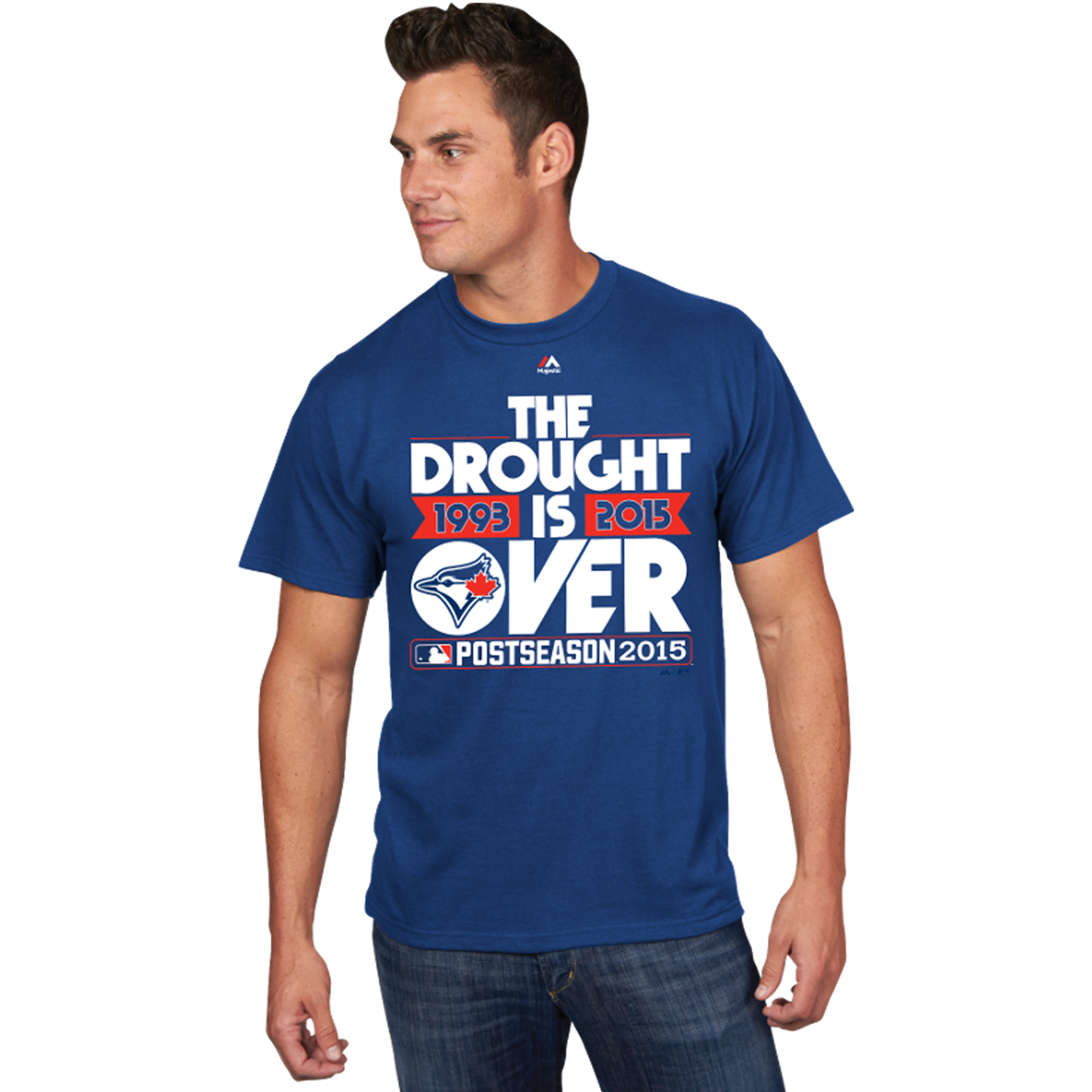 Toronto Blue Jays Majestic 2015 Postseason Drought Is Over T-Shirt - Royal