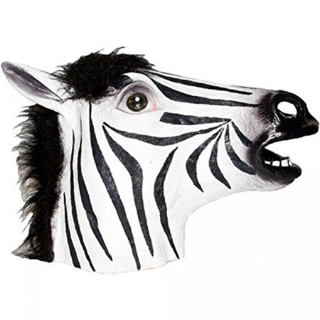 Zebra Mask (Black And White Adult Latex Zebra)