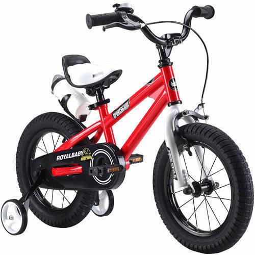 Bicicleta Para Niño(A) RoyalBaby BMX Freestyle bici de los cabritos, muchacho39; s bicicletas y chica39; s bicicletas con ruedas de entrenamiento de los regalos para niños, ruedas de 14 pulgadas, roja + Royalbaby en Veo y Compro