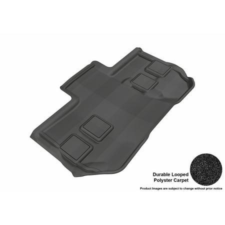 3D MAXpider 2011-2014 Chevrolet Suburban Third Row All Weather Floor Liner in Black Carpet