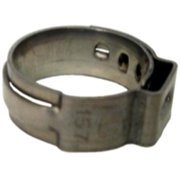 "The Main Resource HC8658-100 5/8"" Open Pinch Clamps [.52"" - 5/8""] 100 Per Bag"