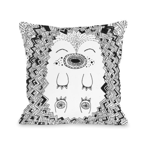 Happy Hog Blue - 16x16 Pillow by Susan Claire