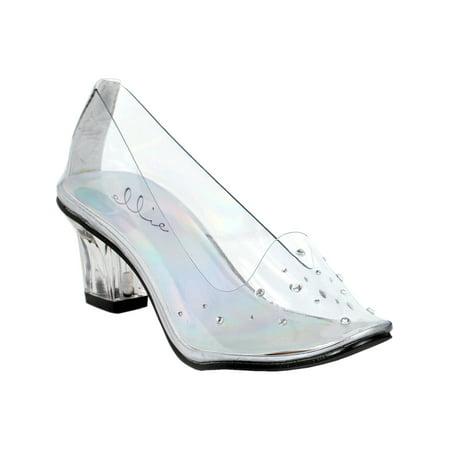 73e232f258e6 SummitFashions - Womens Clear High Heels Slipper Pumps Rhinestones Costume  Shoes 2 Inch Heels - Walmart.com