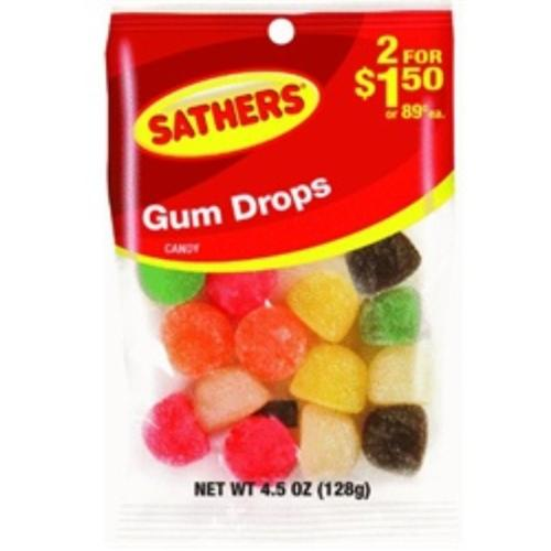 Sathers Gum Drops 12 pack (4.5oz per pack) (Pack of 2)