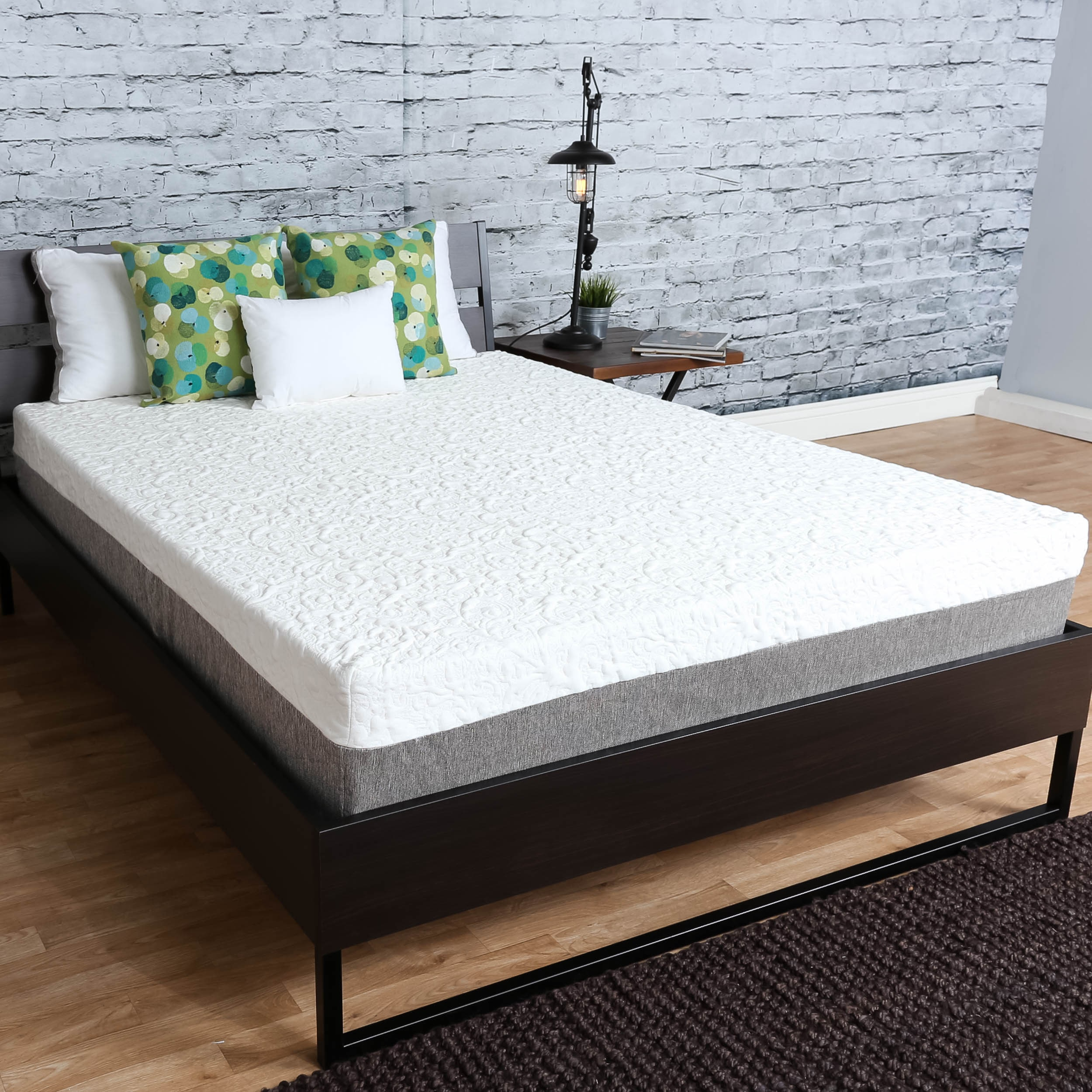 Somette  Medium Firm 10 inch twin XL size Graphite Gel Memory Foam Mattress