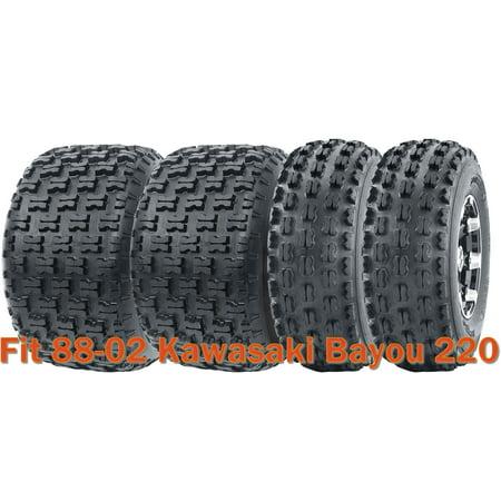 Full Set Sport ATV tires 21x8-9 & 22x10-10 for 88-02 Kawasaki Bayou