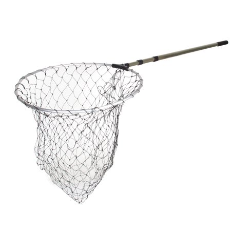 Telescopic 3 sections handle black nylon mesh fishing fish for Fishing net walmart