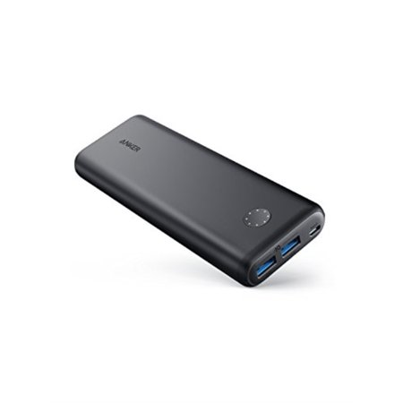 Anker PowerCore II 20000, 20100mAh Portile Charger with Dual USB Ports, PowerIQ 2.0 (up to 18W Output) Power Bank, Fast Charging for iPhone, Samsung and More (Compatible with Quick Charge