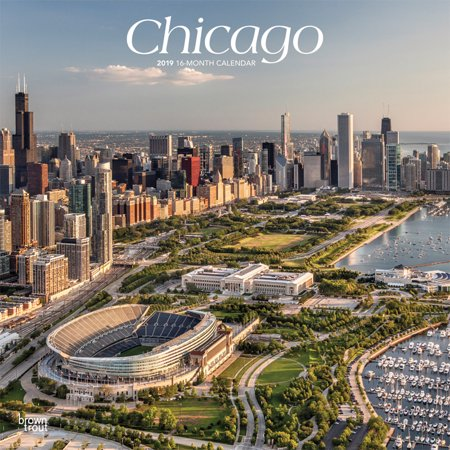 Chicago 2019 12 x 12 Inch Monthly Square Wall Calendar, USA United States of America Illinois Midwest City