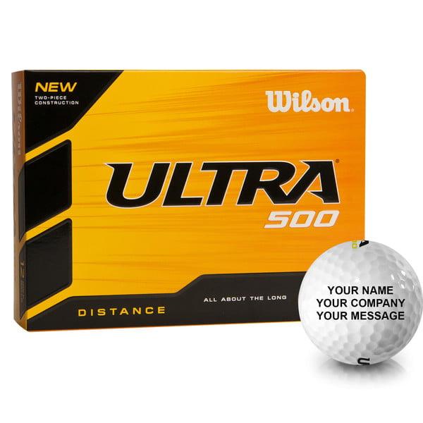 Personalized Wilson Ultra 500 Distance Golf Balls