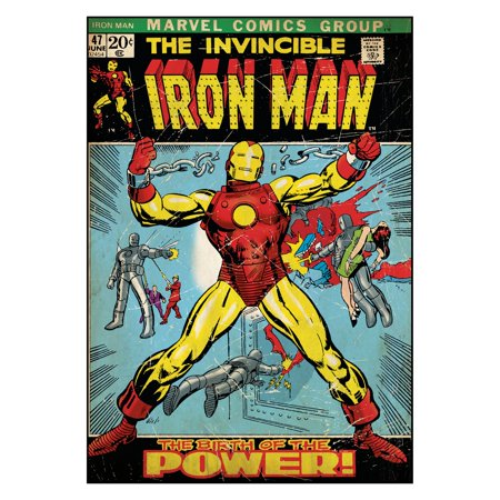 Comic Book Cover- Iron Man Wall Decal- 24W x 34.25H - Iron Man Decal