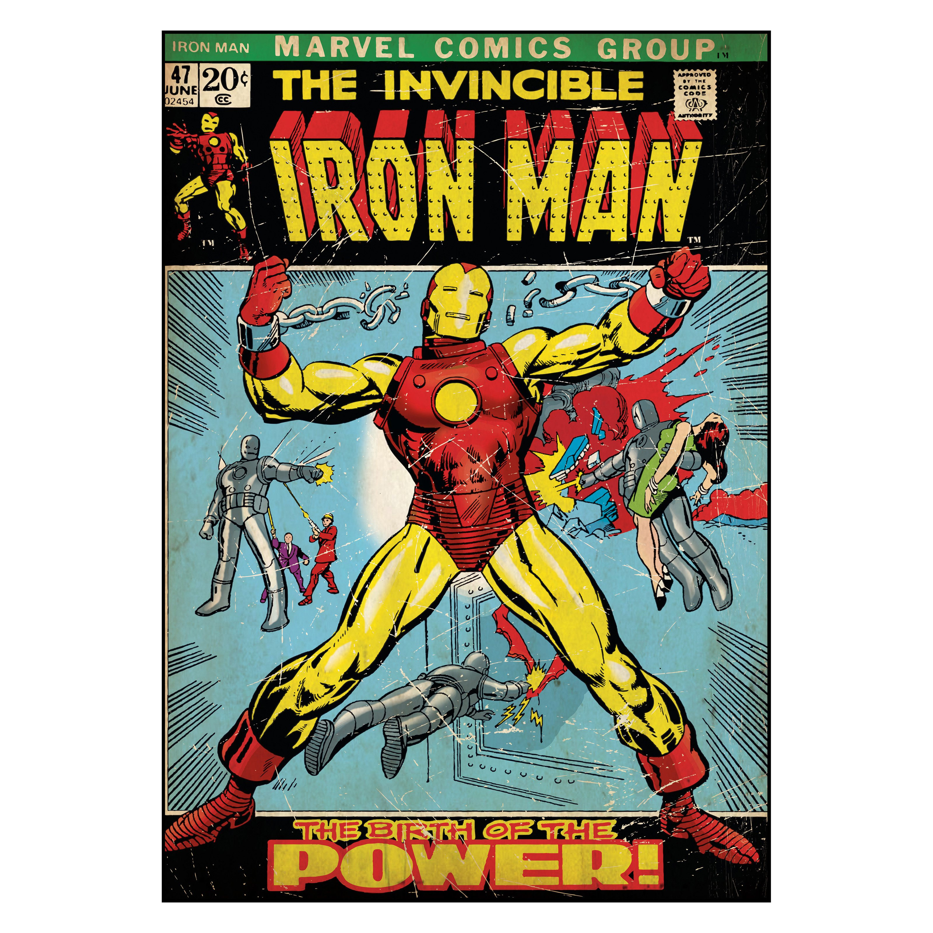 Comic Book Cover- Iron Man Wall Decal- 24W x 34.25H in.