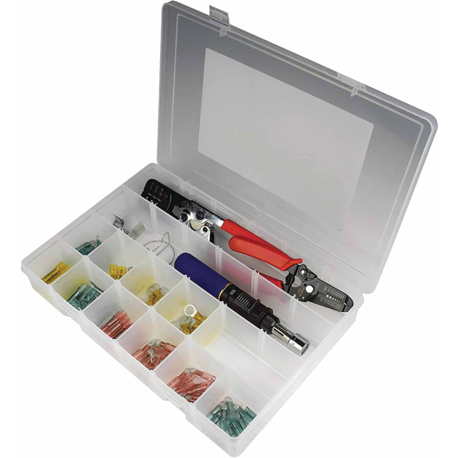 Seachoice 78-Piece Heat Shrink Terminal Kit with Wire Stripper and Cutting Tool