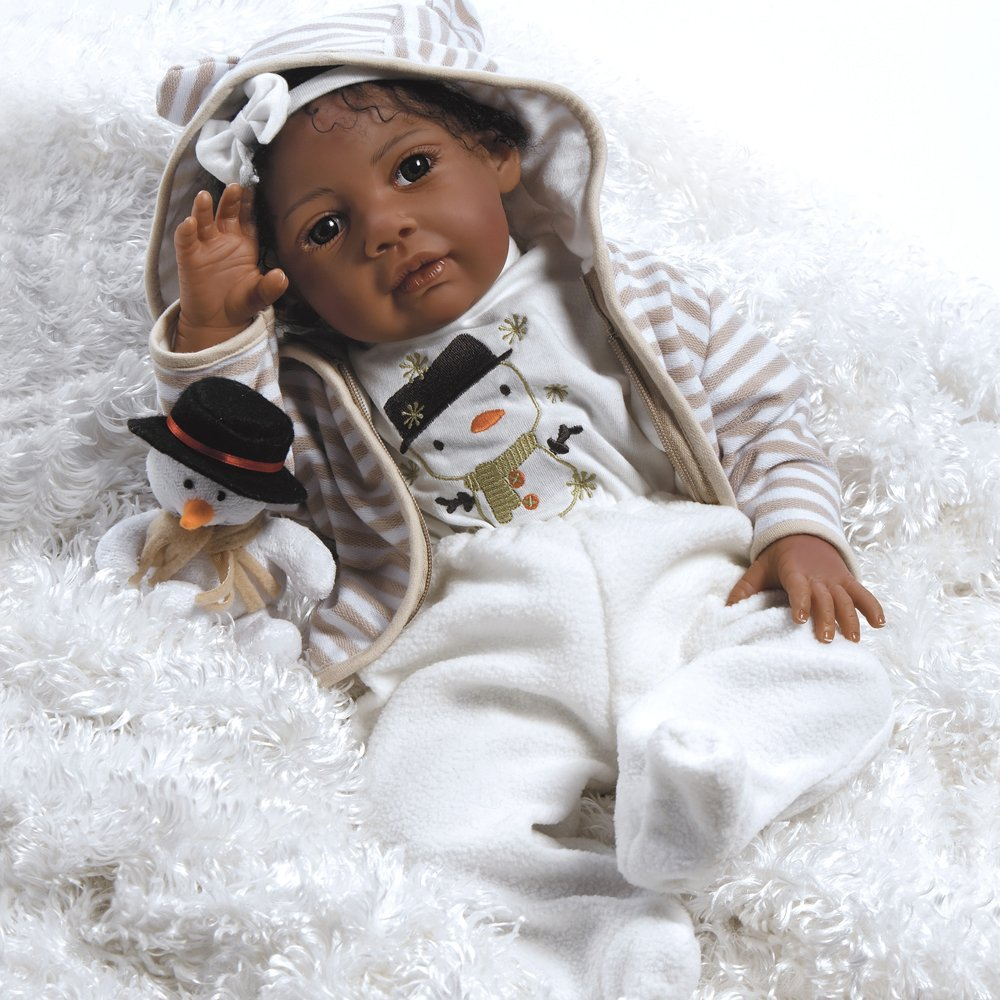 Paradise Galleries Lifelike Realistic Soft Vinyl Weighted 20 inch Baby Girl Doll Gift... by