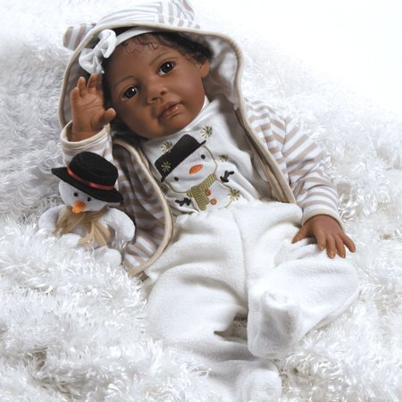 Paradise Galleries Lifelike Realistic Soft Vinyl Weighted 20 inch Baby Girl  Doll Gift