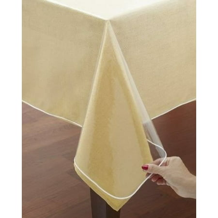 All For You Pvc Rectangular Clear Transparent Tablecloth
