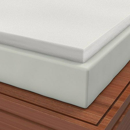 Expandable Cover and Two Contour Pillows included with Twin XL 2 Inch Soft Sleeper 2.5 Visco Elastic Memory Foam Mattress Topper USA Made ()