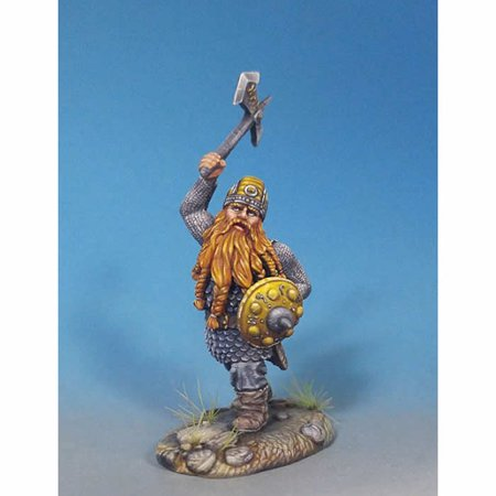 Male Dwarven Warrior With Battle Axe Miniature Visions In Fantasy Dark Sword Miniatures