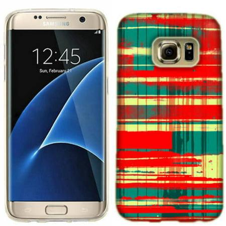 Mundaze Spray Plaid Phone Case Cover for Samsung Galaxy S7 (Qwik Spray Case)