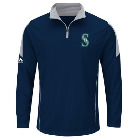 "Seattle Mariners Majestic MLB ""Status"" Cool Base 1 4 Zip Performance Shirt by"