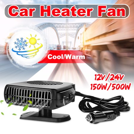 Auto Heating Cable - 12V 24V  500W Auto Car Heater Car Vehicle Portable Ceramic Heater Heating Cooling Fan Defroster Demister