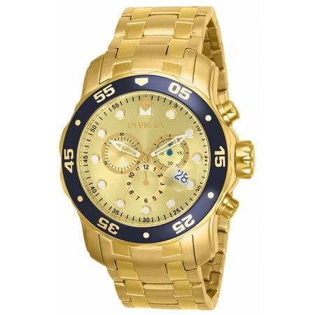 Invicta Men's 80068 Pro Diver Quartz Chronograph Champagne Dial Watch