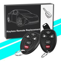 2 Remote Start Keyless Entry Key Fob Clicker Control for Chevrolet,Buick,Cadillac,GMC(UC60270,15913415)