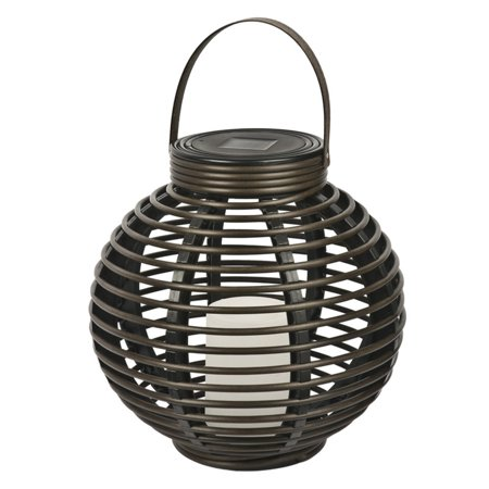 Paradise Garden Lighting Solar Rattan Basket With Candle