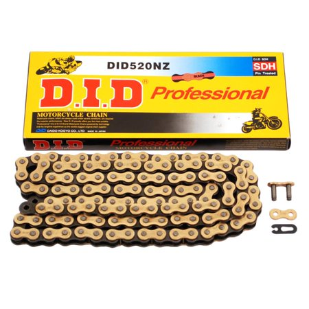 D.I.D 520 NZ Super Non O-Ring Chain Natural 114 Links  520NZ x 114 520 Sport Non O-ring Chain