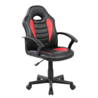 Urban Designs Kids Gaming and Student Racer Chair with Wheels - Red