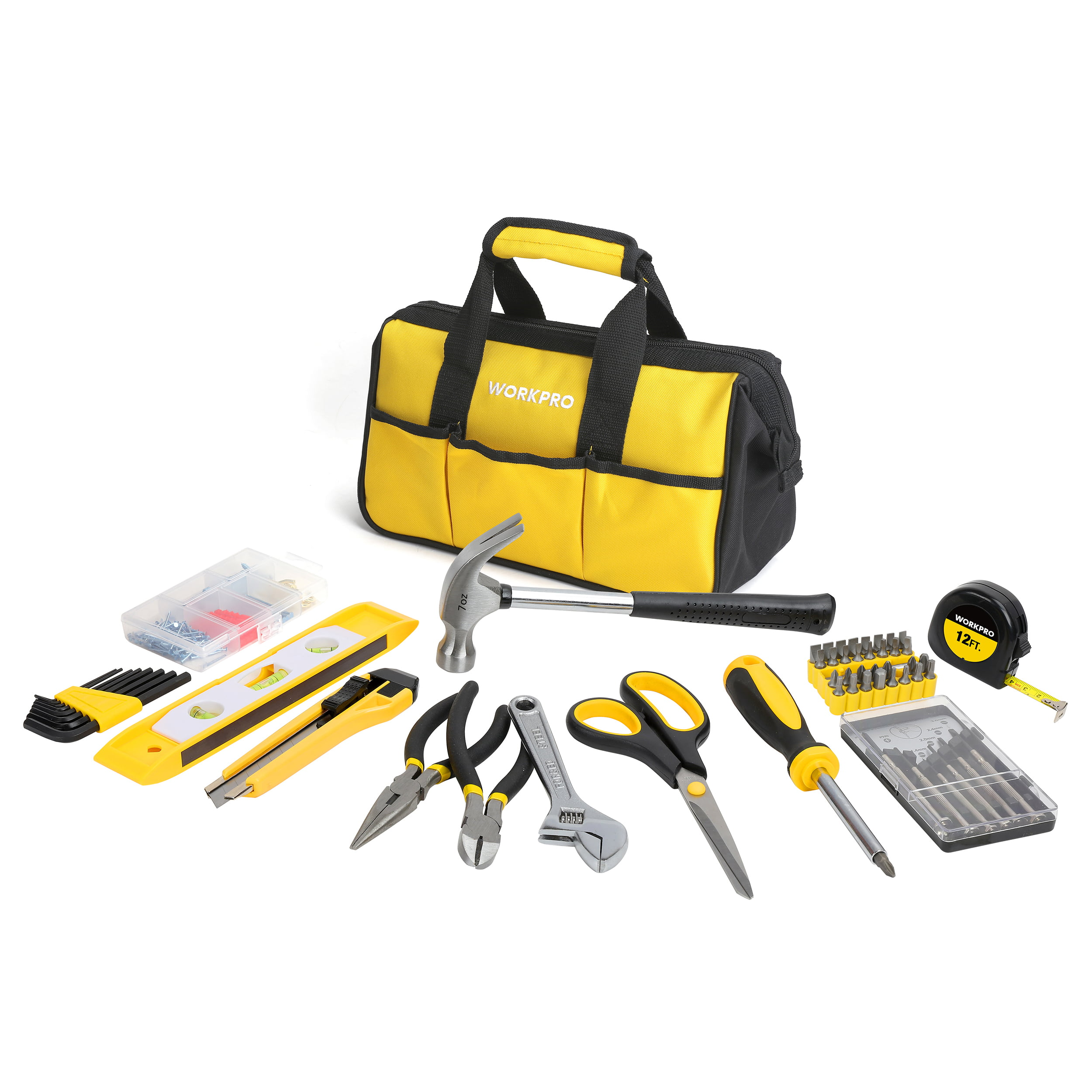 WorkPro 199-Piece Home Repair Tool Kit - Walmart.com
