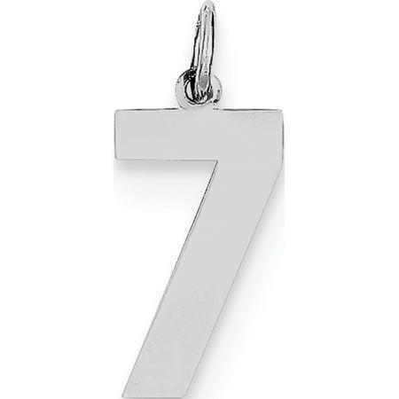 925 Sterling Silver Medium Polished Number 7 - image 1 of 2