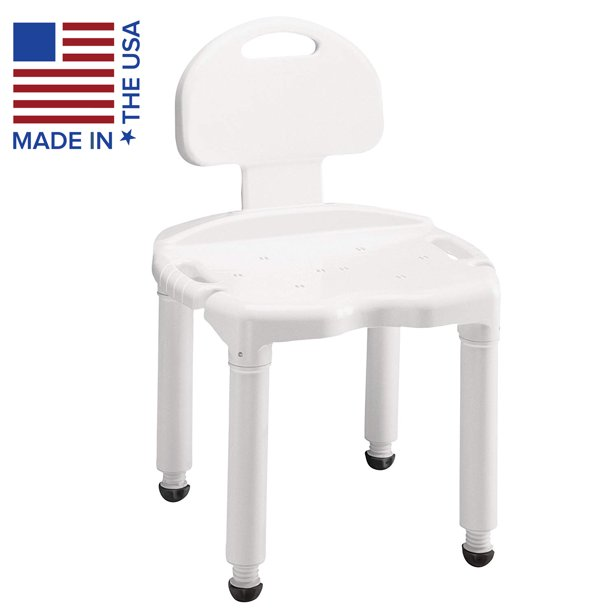 Carex Bath Seat And Shower Chair With Back For Seniors Elderly Disabled Handicap And Injured Persons Supports Up To 400lbs Walmart Com Walmart Com