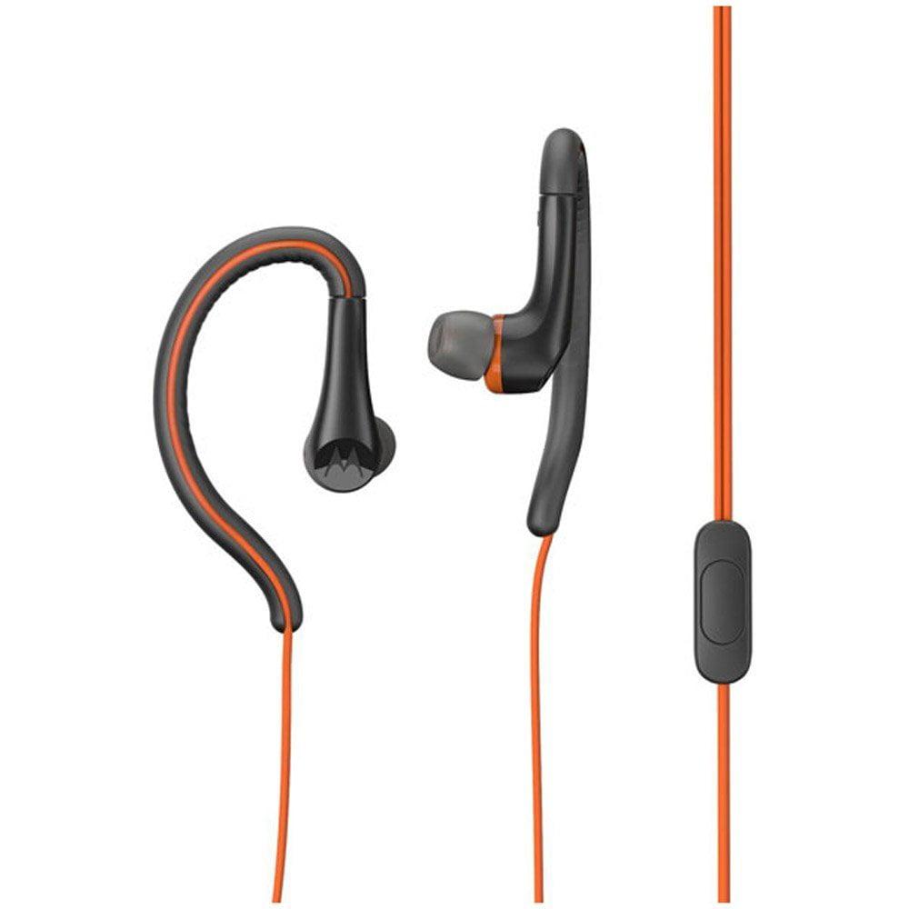 Motorola Earbuds Sport In-Ear Wired Headphones Water Resistant - Orange
