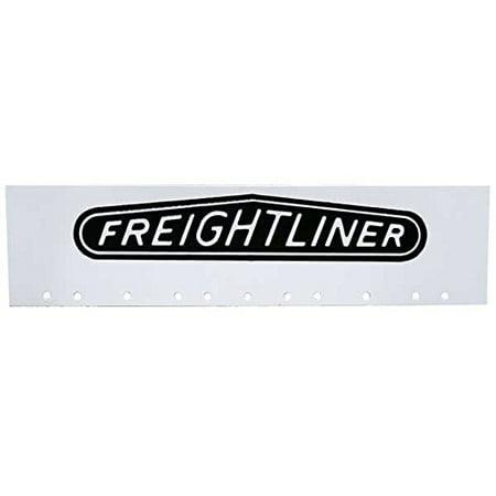 Semi Truck Mud Flaps (Freightliner Black & White 6