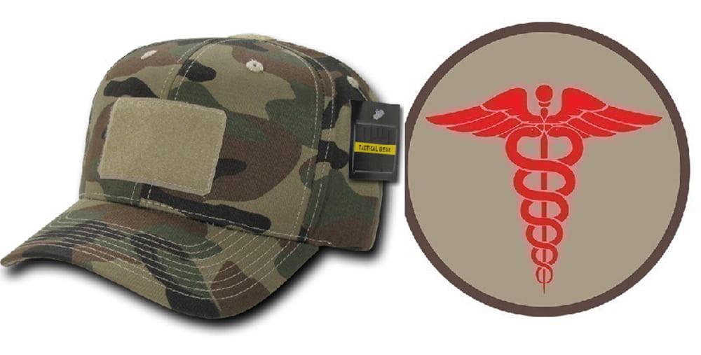 Ultimate Arms Gear Woodland Camo Cap + EMS ROUND PATCH KHAKI ... 8b35640ab8af