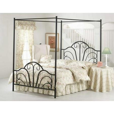 Hillsdale Furniture Dover Full Bed with Bedframe, Black