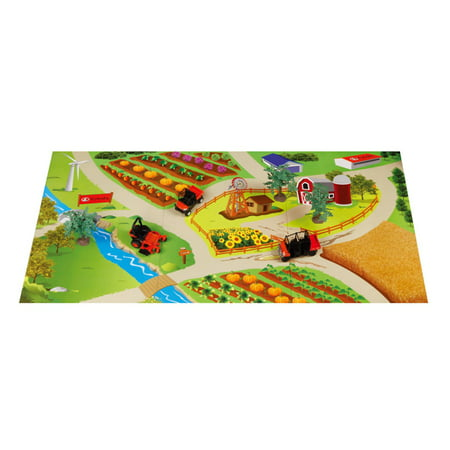 Kubota® Two-Sided Playmat with 2 RTV's & Zero Turn Mower Toy Set 6 pc Box -  New Ray Toys, SS-33243