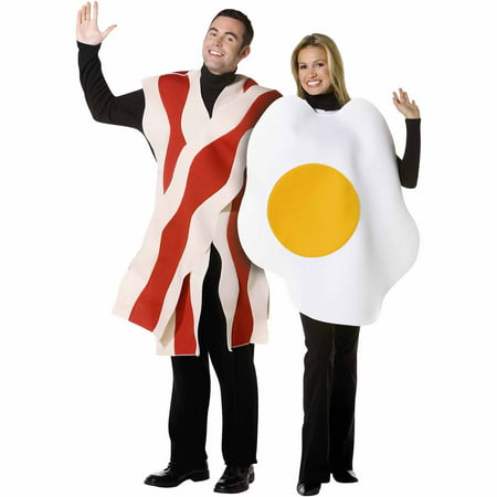 Bacon and Eggs Couples Adult Halloween Costume - Funny Last Minute Couples Halloween Costumes