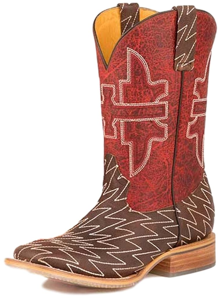 Tin Haul Western Boots Mens Lightning Lucy Brown 14-020-0007-0216 BR
