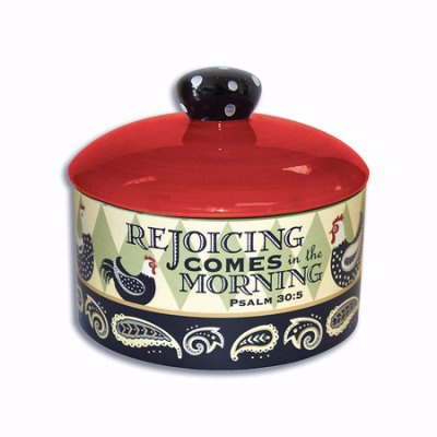 """Sugar Bowl W/Lid-Rooster Collection (4.5"""")"""
