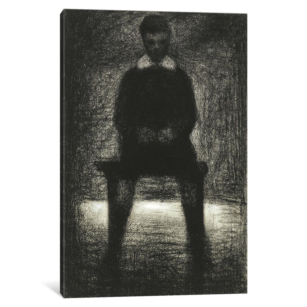 iCancas Maurice Appert (Garconnet Assis) 1884 Gallery Wrapped Canvas Art Print by Georges Seurat