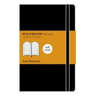 """Moleskine Soft Notebook, 5"""" x 8.25"""", Large, Ruled"""