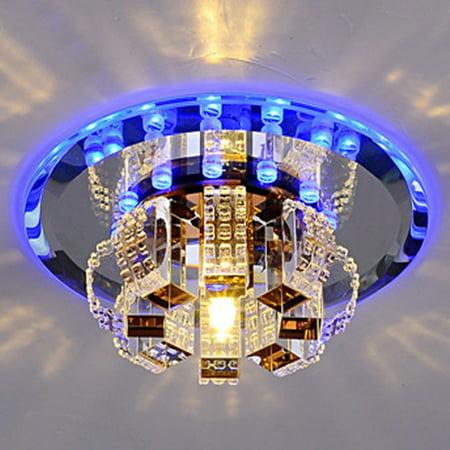 Modern Crystal Chandelier Round Ceiling Lamp for Bedroom, Bathroom, Dining Room(White Light, Warm White Light) (Crystal Light Ceiling Cover)