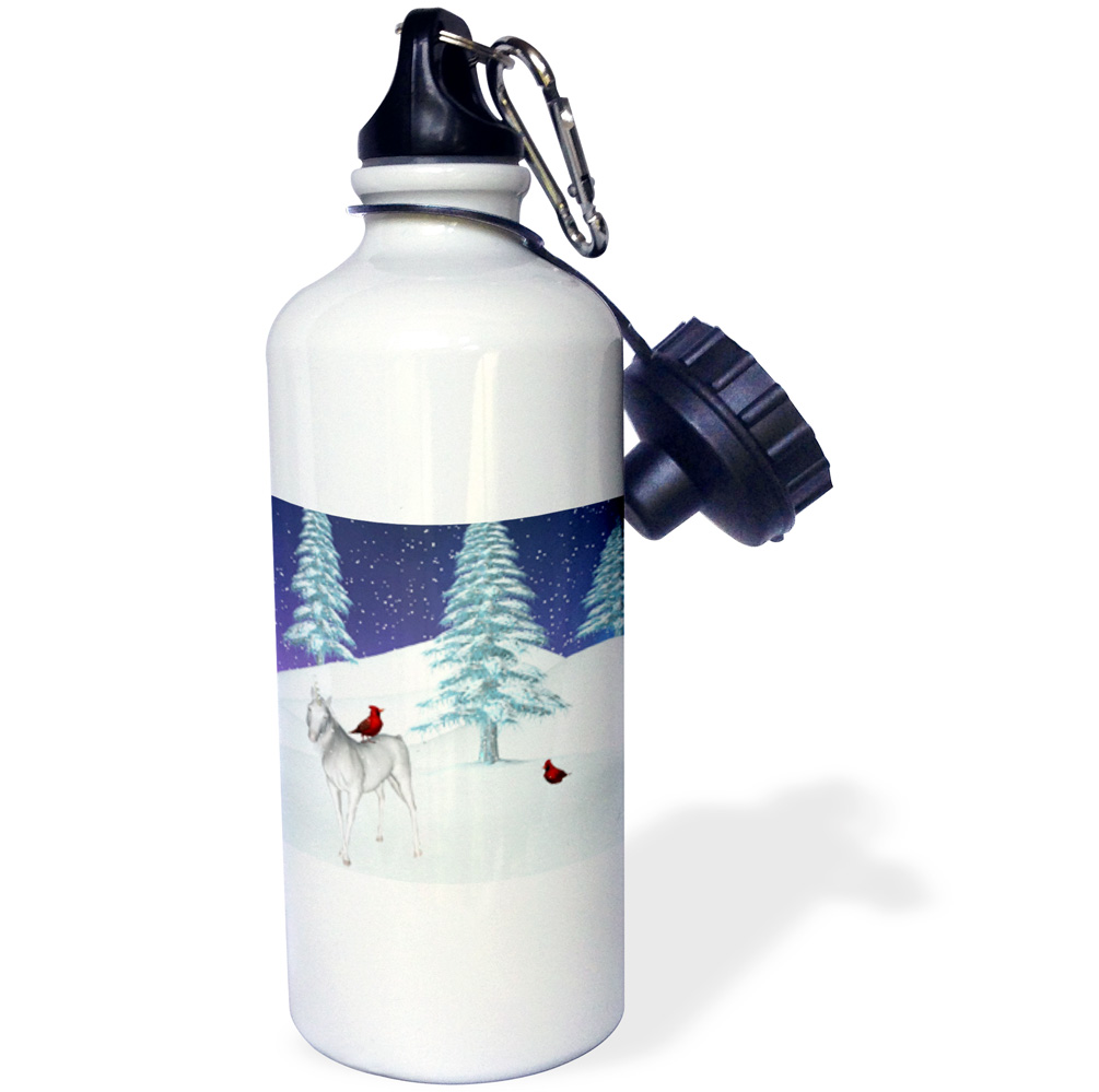 3dRose Unicorn And Cardinal In Winter, Sports Water Bottle, 21oz by Supplier Generic