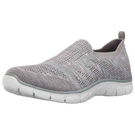NEW SKECHERS WOMEN Sneakers Slip On Memory Foam EMPIRE INSIDE LOOK White