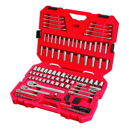 Craftsman 1/4, 3/8 and 1/2 in. drive Metric and SAE 6 and 12 Point Mechanics Tool Set 135 pc. - Case Of: 1; Each Pack Qty: 135; Total Items Qty: 135