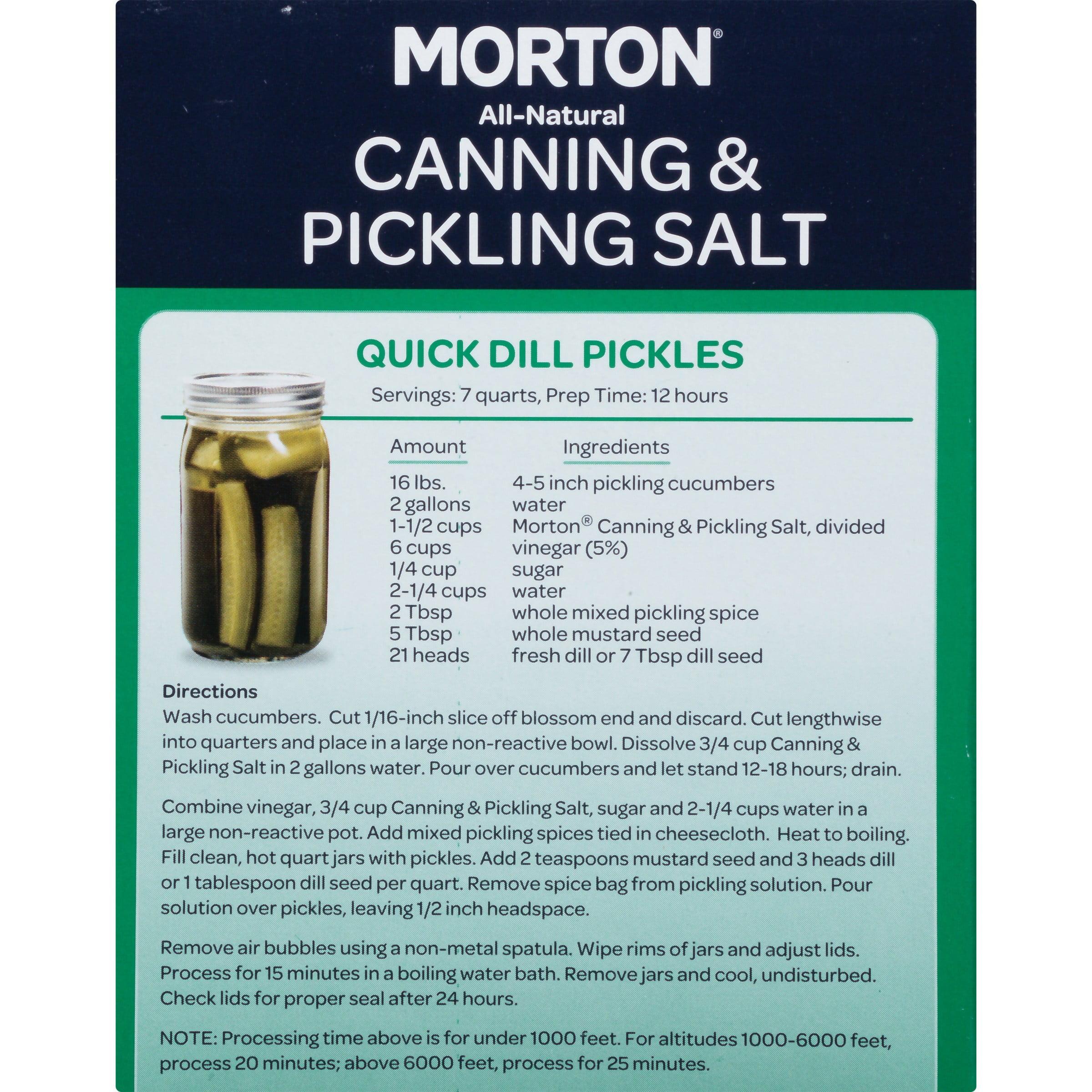 Morton Canning & Pickling Salt 4 lb Box Walmart
