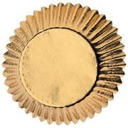 Wilton Mini Cupcake Liners, Gold Foil, 36 Ct